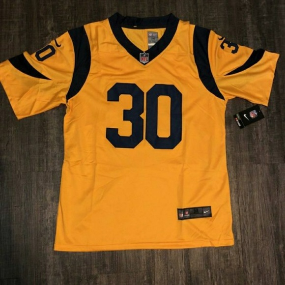 sports shoes e5525 f3142 LOS ANGELES RAMS #30 GURLEY II YELLOW JERSEY NWT
